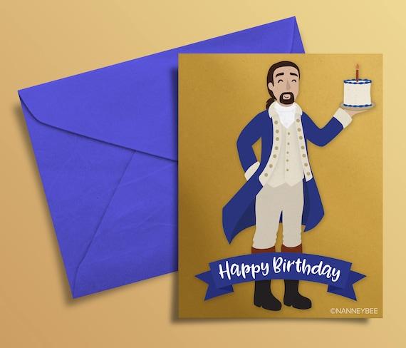 hamilton musical alexander hamilton birthday card printable
