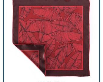 """Pocket square """"Kind of red #1"""""""