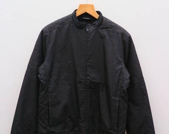 Vintage DKNY Donna Karen New York Black Zipper Windbreaker Jackets Size M
