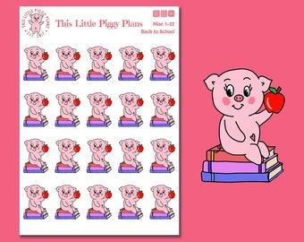 Back to School Oinkers - Back to School Stickers - Planner Stickers - School Stickers - Teacher Stickers - Student - Study - [Misc 1-22]