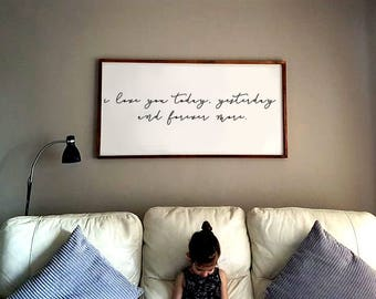 I love you, wooden sign, wood sign, shabby chic, wall art, wall décor, bedroom art, wedding gift, wedding decor, farmhouse sign, nursery