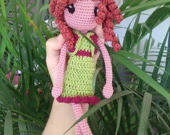 Anna crochet doll, 100% cotton