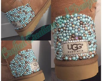UGG Mini Bailey Button w/ Bling