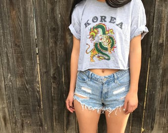 Cropped top with Korea logo