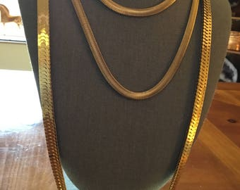 GOLD NECKLACES/wide necklaces, long necklaces