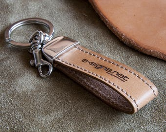 Personalized Leather Key Ring