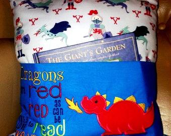 Childrens Book Pillow, Dragon.