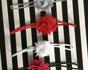 "Petite 1.5"" Shabby Flower Headband"