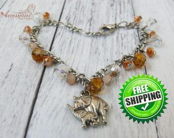 Wish Elephant Bracelet Elephant Charm Boho Hippie Friend wish bracelet Talisman Friendship bracelet Amulet Lucky Animal bracelet jewelry