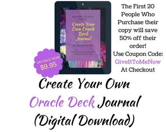 Create Your Own Oracle Deck Journal, Pagan Journal, Instant Download, Oracle Card Journal