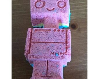 Robot Bath Bomb. Robot Shaped. Bath Bomb. Bath Fizzy. Christmas Gift Idea. Christmas Stocking Stuffer. Gift for Kids. Gift for son. Gift