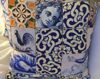 Pillows Portuguese azulejos