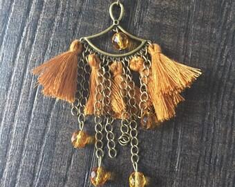REF0084 - Bohemian earrings ocher and bronze