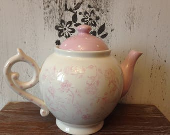 Ceramic Soft Rose Tea Pot