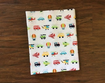 Cotton Receiving Blanket, Swaddle, Baby Blanket, Cotton Sheet, Baby Shower Gift, Nursery Bedding, Boy, Transportation, Baby Branch Boutique