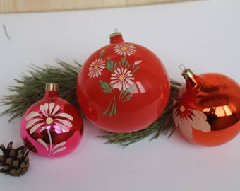 Set of Soviet Vintage Christmas Tree toys,Collectible Vintage Glass Toys,USSR Glass Toys,Glass Christmas decorations,Christmas ornaments 36