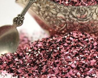 Glass Glitter/DARK FUSION Glitter/Sea Shell Dark Fusion Glitter/Vintage Glitter/Ornaments/Cards/Wedding/Holiday DIY/Home Decor
