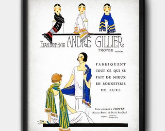 Andre Gillier ad · 1920s · Vintage · Digital File · Wall · Printable · Instant Download #3