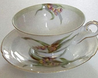 Diamond China Tea Cup and Saucer made in Occupied Japan