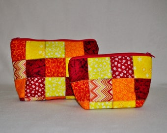 Matching Set Large and Small Cosmetic Bags