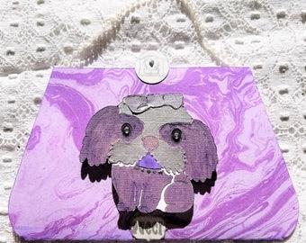 Designer Purple PUCCI Purse Card with Inside Pocket