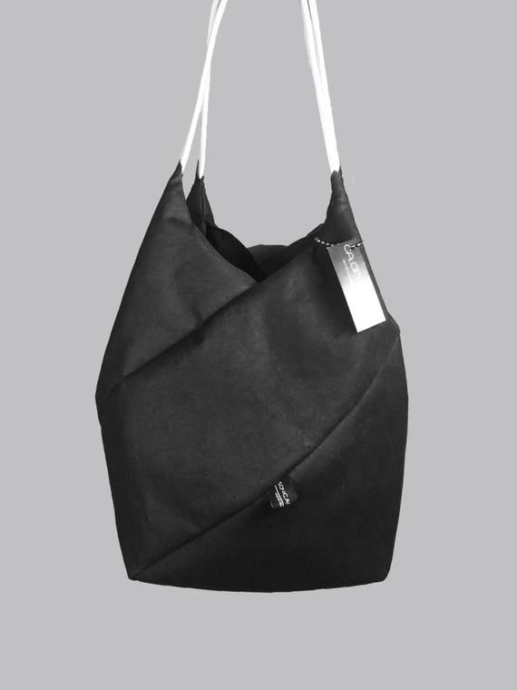 GEOMETRIC refined handbag small shopper black from Jacron minimalist design