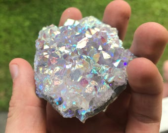 PICK YOUR SIZE! Angel Aura Amethyst Cluster, Angel Aura Quartz, Aura Quartz, Angel Aura Crystal, Angel Aura, Angel Aura Cluster