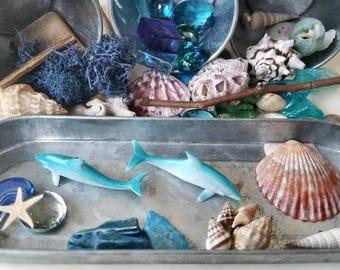Ocean Theme Loose Parts, Transient Art, Open-ended Play, Reggio Emilia Inspired, Under the Sea Tinker Tray, Ocean Art Kit, Montessori