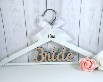 Personalised Wedding Hangers, bride hanger and all wedding roles available