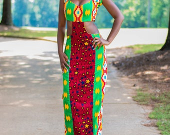 Ankara Cutout  Dress