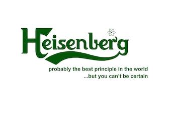T-SHIRT: Heisenburg / Carlsburg Uncertainty Principle - Classic T-Shirt & Ladies Fitted Tee - (LazyCarrot)