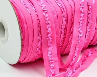 Pink Elastic Ribbon, Elastic, Elastic By The Yard, Pink Elastic, Ribbon, Ribbon By Yard, 5/8 Inch, 15mm, FOE, Headband Ribbon, Hair Ties