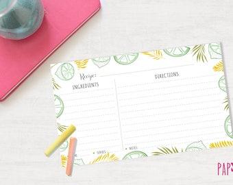 Recipe Card Template | blank recipe card, recipe card printable, recipe card, recipe card 6 x 4, printable recipe, recipe template