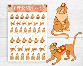 SALE 50% OFF! Monkey Circus Performance Stickers