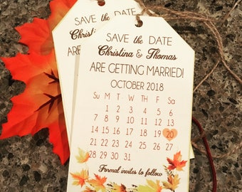 Hangtag save the date wedding