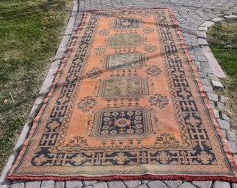 Rare Turkish Rug 4.4 x 10.9 feet Free Shipping Decorative Area Rug Floor Rug Home Decor Rustic Rug Bohemian Rug Area Rug Ethnic Rug DC920
