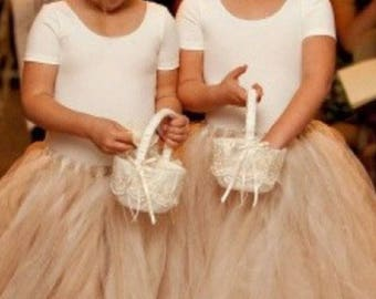 Champagne Tutu, flower girl tutu, ballet tutu, bridesmaid tutu skirt, baby tutu, tulle skirt, wedding tutu, floor length tutu
