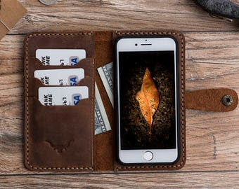 iPhone 6S Plus leather wallet case, iPhone 6S plus case, İphone 6S plus wallet case, Leather iPhone 6S plus case, fathers day gift #PAKHET