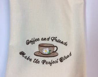 Embroidered Tea Towel (dish)