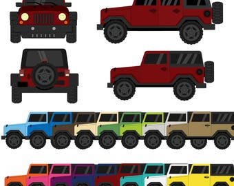 Jeep Digital Clipart
