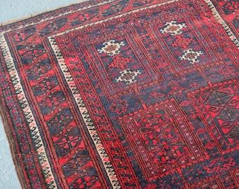 Vintage Rug/turkish Rug/baluch Rug/persian Rug/tribal Rug/vintage