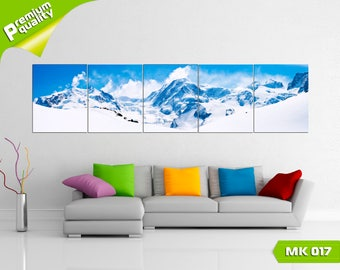 Winter mountains, Modular painting for Home & Office Decoration, Canvas print wall art, Poster home décor, Multi panel canvas print