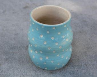 pottery tumbler, ceramic tumbler, handmade tumbler, pottery vase, pottery pencil cup, pottery glass, handmade vase