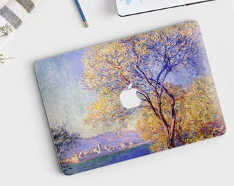 "Claude Monet, ""Antibes Seen from the Salis Gardens"". Macbook Pro 15 decal, Macbook Pro 13 decal, Macbook 12 decal. Macbook Air decal."