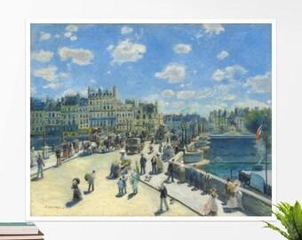 "Pierre-Auguste Renoir, ""Pont Neuf, Paris"". Art poster, art print, rolled canvas, art canvas, wall art, wall decor"