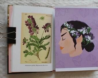 3 x Star Trek prints (Spock, Nyota Uhura, T'Pring), flowers,