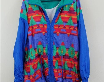 Vintage Windbreaker Jacket by Laura Katherine size large/extra large #371