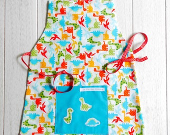 boy dinosaur pattern... ideal for a future top chef apron