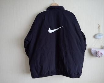 Vintage Nike jacket men xl, jacket 90s men, Winter jacket black, 90s jacket nike men, 90s jacket xl, Nike jacket vintage, Nike old school