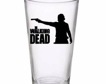 The Walking Dead Rick Zombie Horror Pint Wine Glass Tumbler Alcohol Drink Cup Barware Halloween Scary
